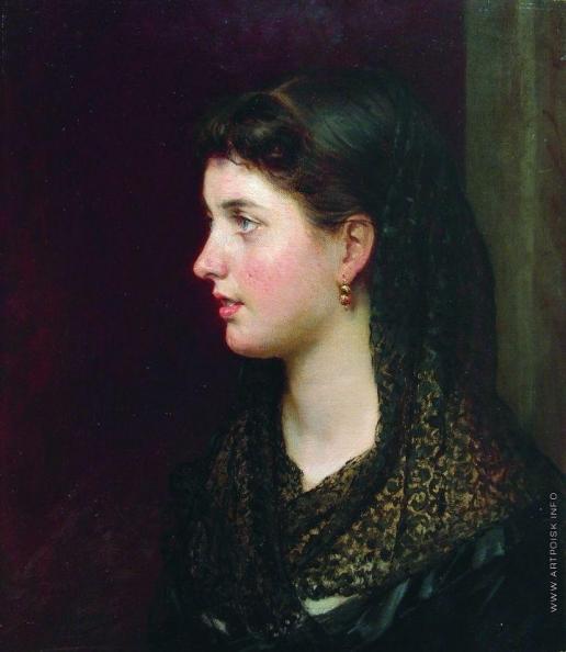 Ярошенко Н. А. Портрет дамы в кружевной накидке
