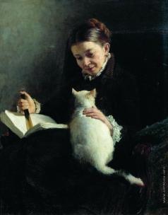 Ярошенко Н. А. Портрет дамы с кошкой