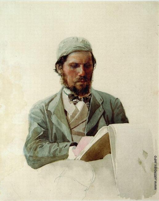 Ярошенко Н. А. Портрет художника Ивана Николаевича Крамского