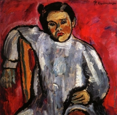 Кончаловский П. П. Наташа на стуле (портрет Н. П. Кончаловской в детстве)