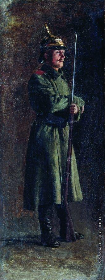 Ярошенко Н. А. Солдат с винтовкой