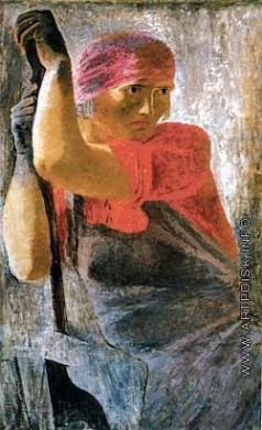 Самохвалов А. Н. Женщина (работница) с напильником