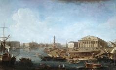Алексеев Ф. Я. Вид на Биржу и Адмиралтейство от Петропавловской крепости