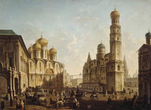 Алексеев Ф. Я. Соборная площадь в Московском Кремле