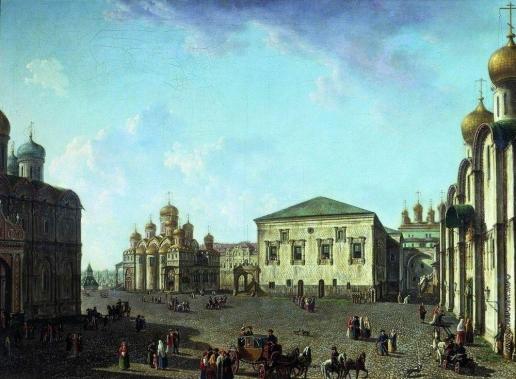 Алексеев Ф. Я. Площадь перед Успенским собором в Московском Кремле