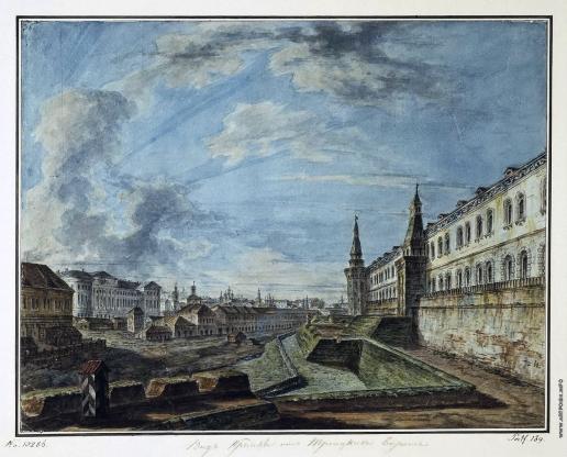 Алексеев Ф. Я. Вид на Кремль со стороны Троицких ворот