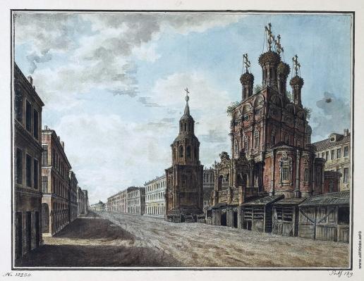 Алексеев Ф. Я. Вид церкви Никола Большой Крест на Ильинке