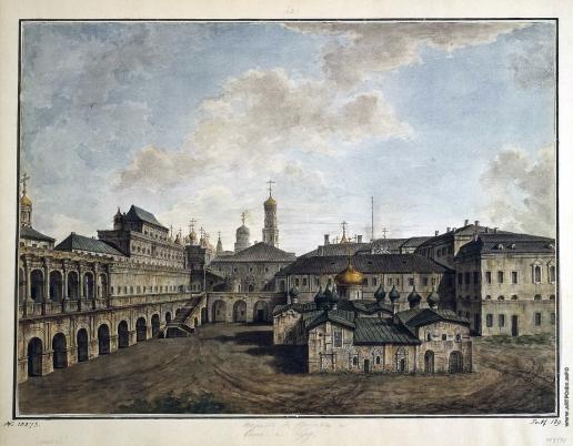 Алексеев Ф. Я. Вид на Теремной дворец и собор Спаса на Бору