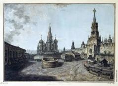Алексеев Ф. Я. Собор Василия Блаженного и Спасские ворота