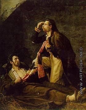 Бабаев П. И. Подвиг знаменосца Старичкова при Аустерлице в 1805 году