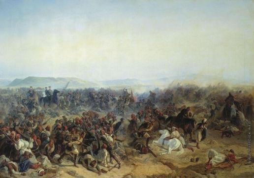 Байков Ф. И. Сражение при селении Кюрюк-Дара в окрестностях крепости Карс 24 июля 1854 года