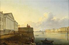 Аммон В. Ф. Набережная Невы около Академии Наук
