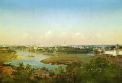 Аммон В. Ф. Вид Москвы с Воробьёвых гор