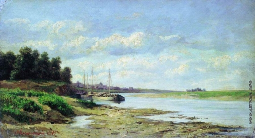 Аммосов С. Н. Барки на реке