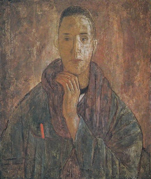 Самохвалов А. Н. Человек с шарфом (Автопортрет)