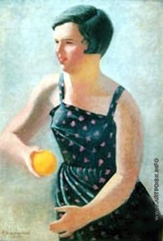 Самохвалов А. Н. Девочка с яблоком