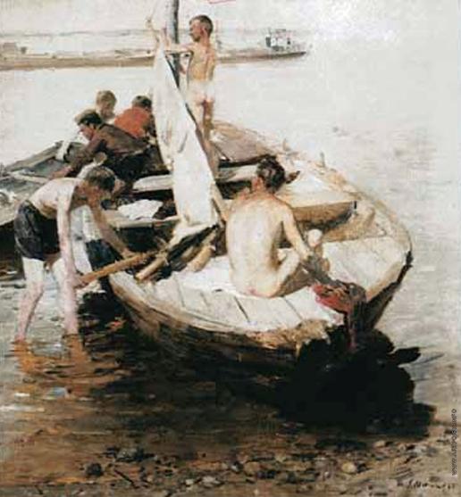 Максимов К. М. Мальчики в лодке