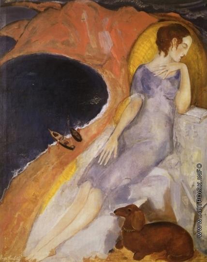 Анисфельд Б. И. Женщина на пляже