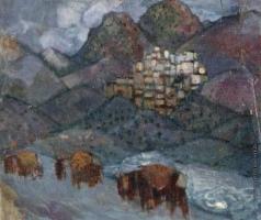 Анисфельд Б. И. Селение в горах