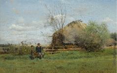 Маковский В. Е. Ранняя осень в деревне