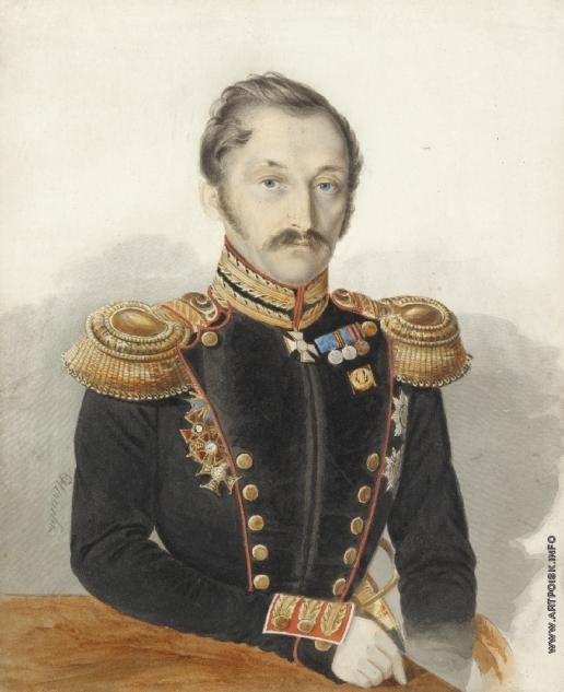 Нечаев И. А. Портрет генерала Даниила Александровича Герштенцвейга