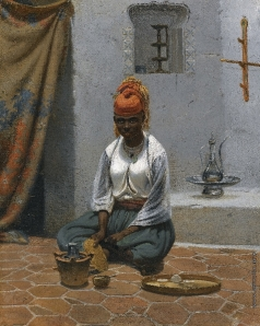 Тимм В. Ф.  Изготовление чая в Алжире