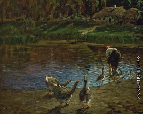 Федорович В. Н. Пейзаж с гусями