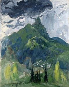 Анисфельд Б. И. Долина в горах