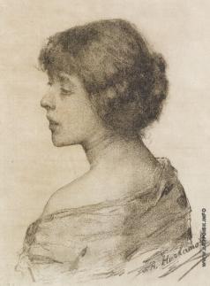 Харламов А. А. Женский портрет