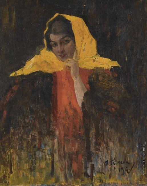 Гринман И. А. Портрет женщины в желтом платке
