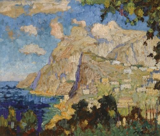 Горбатов К. И. Вид горы Соларо, Капри