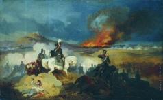 Виллевальде Б. П. Атака лейб-гусар под Варшавой в 1831 году