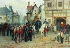 Виллевальде Б. П. Блюхер и казаки в Бауцене
