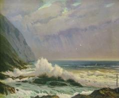 Вещилов К. А. Волны, разбивающиеся о скалы