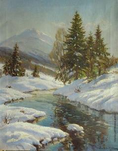 Вещилов К. А. Зимний пейзаж с рекой
