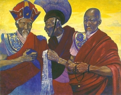 """Рерих С. Н. Ламы из секты """"красных шапок"""" (Тибетские Ламы)"""