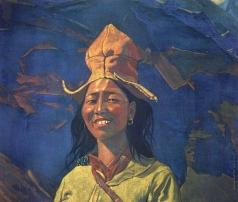 Рерих С. Н. Девушка в желтом головном уборе