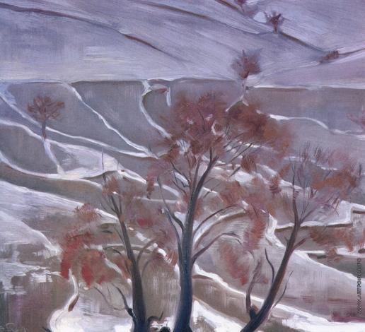 Рерих С. Н. Рисовые поля под снегом