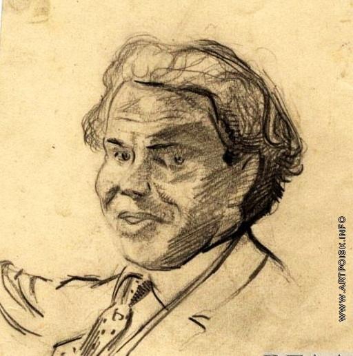 Анненков Ю. П. Портрет П.Я. Курзнера