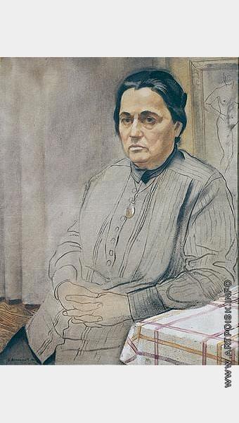Анненков Ю. П. Портрет матери