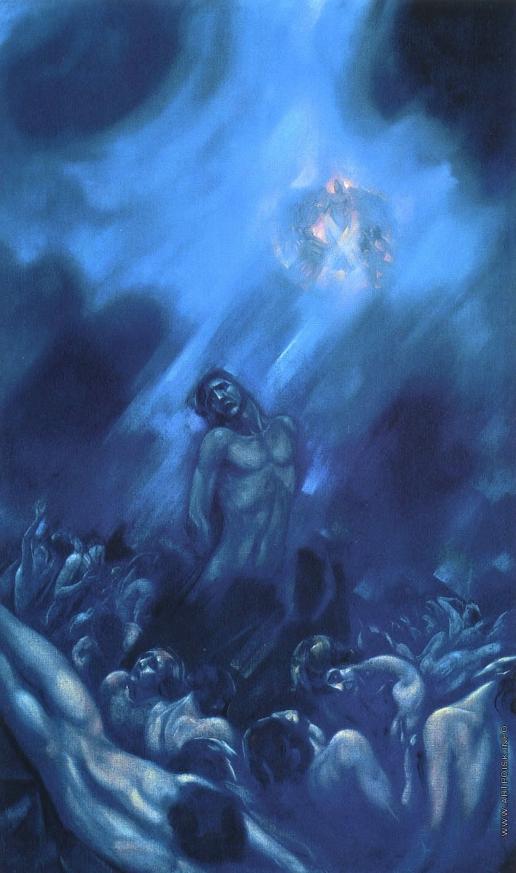 Рерих С. Н. Освобождение. (правая часть триптиха «Распятое человечество»)