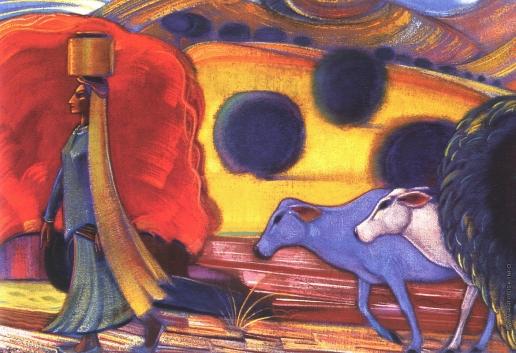 Рерих С. Н. Женщина из племени гадди