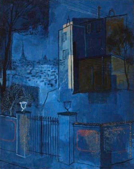 Анненков Ю. П. Вид на Париж из Медона