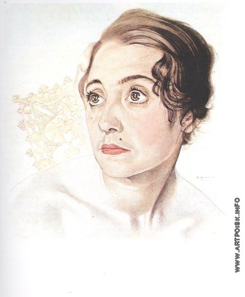 Анненков Ю. П. Валентина Мотылева, бывшая МХТовская актриса, жена художника в эмиграции