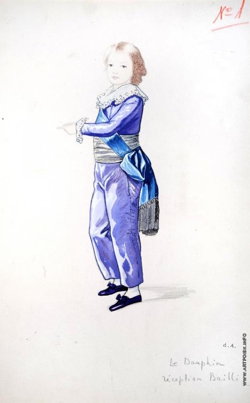Анненков Ю. П. Юный дофин в сиреневом костюме