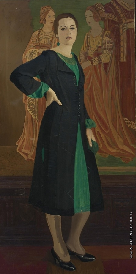 Рерих С. Н. Портрет Кетрин Кэмпбелл в зеленом платье