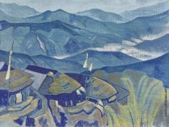 Рерих Н. К. Деревня (Из серии Гималаи)