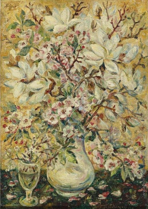 Гончарова Н. С. Ваза с цветами