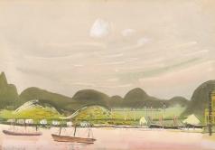 Григорьев Б. Д. Пейзаж с горами. Южная Америка