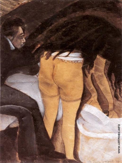 Григорьев Б. Д. Интимная сцена. Моющая волосы